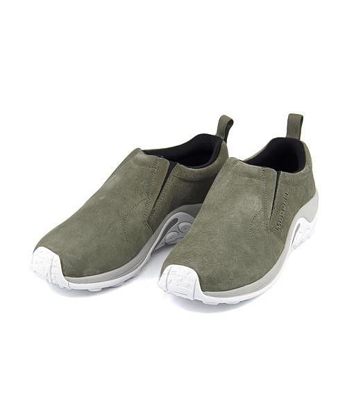 メレル スリッポン スニーカー メンズ ジャングルモック クッション性 耐久性 撥水 雨 雪 靴 カジュアル デイリー トラベル ウォーキング アウトドア JUNGLE MOC MERRELL J98825 オリーブ
