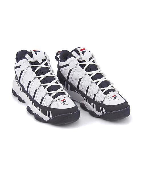 フィラ バスケットボールシューズ スニーカー メンズ スパゲティー クッション性 カジュアル デイリー スポーツ ストリート ウォーキング SPAGHETTI FILA F0206 ホワイト/フィラネイビー/フィラレッド