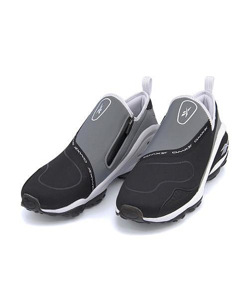 リーボック スリッポン スニーカー メンズ DMXラン10スリップ クッション性 カジュアル デイリー スポーツ ウォーキング DMX RUN 10 SLIP Reebok CN4036 ブラック/ホワイト/フラットグレー