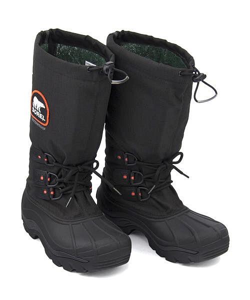 ソレル ウィンターブーツ メンズ ブリザードXT あったか 保温 クッション性 防水 雨 雪 靴 カジュアル デイリー トラベル アウトドア BLIZZARD XT SOREL NM2141 ブラック/レッドクォーツ