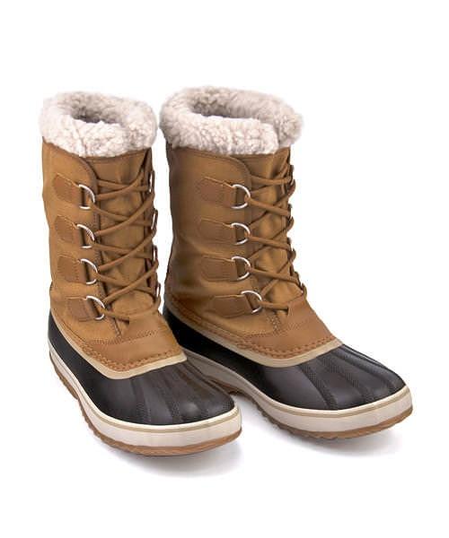 ソレル ウィンターブーツ メンズ 1964パックナイロン 内ボア あったか 保温 クッション性 防水 雨 雪 靴 カジュアル デイリー スポーツ ウォーキング 1964 PAC NYLON SOREL NM3487 キャメルブラウン/ブラック