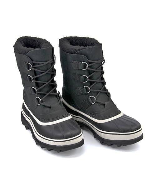 ソレル ウィンターブーツ メンズ カリブー 内ボア あったか 保温 クッション性 防水 雨 雪 靴 カジュアル デイリー スポーツ ウォーキング CARIBOU SOREL NM1000 ブラック/ダークストーン