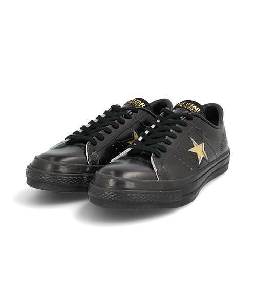 コンバース ローカット スニーカー メンズ ワンスターJ クッション性 カジュアル デイリー スポーツ ウォーキング ONE STAR J converse 35200060 ブラック/ゴールド