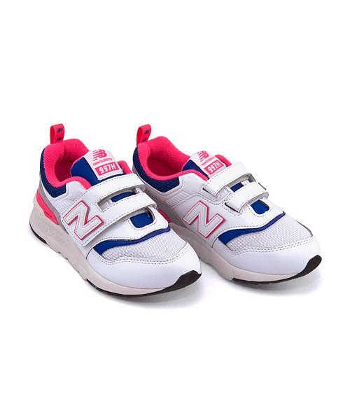 ニューバランス ランニングシューズ スニーカー 女の子 キッズ 子供靴 運動靴 通学靴 PZ997H 軽量 クッション性 カジュアル デイリー スポーツ スクール 学校 PZ997H new balance 195997 ホワイト/ブルー