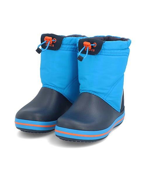 クロックス ウィンターブーツ 女の子 キッズ 子供靴 運動靴 通学靴 クロックバンドロッジポイント クッション性 防水 雨 雪 靴 カジュアル デイリー スポーツ スクール 学校 CROCBAND LODGEPOINT BOOT KIDS crocs 203509 オーシャン/ネイビー