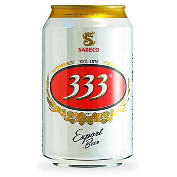 333(バーバーバー) [缶] 330ml x 72本[3ケース販売] [同梱不可][池光/ビール/ベトナム]