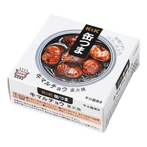 K&K 缶つま 牛マルチョウ 直火焼 [缶] 50g x 24個[ケース販売] [K&K国分 食品 缶詰 日本 0417423]