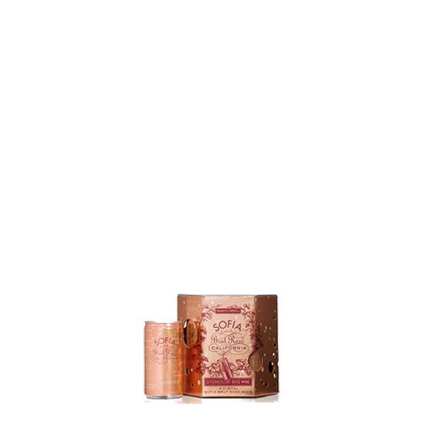フランシス コッポラ ソフィア ブリュット ロゼ ミニ カリフォルニア 187ml x 24本[ケース販売]送料無料※(本州のみ)[WIS/アメリカ/カリフォルニア/泡ワイン/辛口/ライトボディ/FCS2R18-Q]