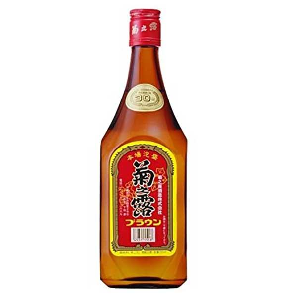菊之露 ブラウン 30度 720ml x 12本 [ケース販売][菊之露酒造 / 泡盛]