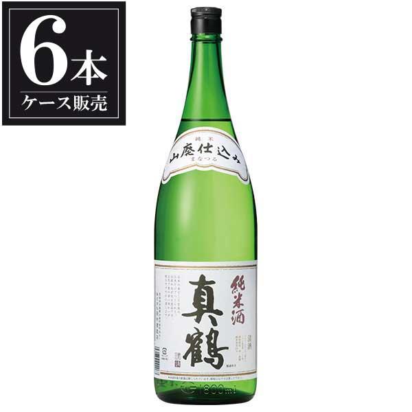 真鶴 山廃純米酒 1.8L 1800ml x 6本 [ケース販売] [田中酒造/宮城県 ]