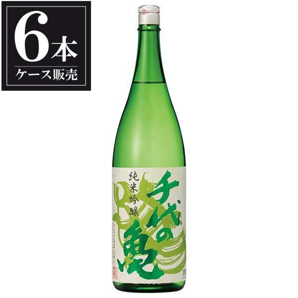 千代の亀 純米吟醸 緑 1.8L 1800ml x 6本 [ケース販売] [千代の亀酒造/愛媛県 ]【母の日】