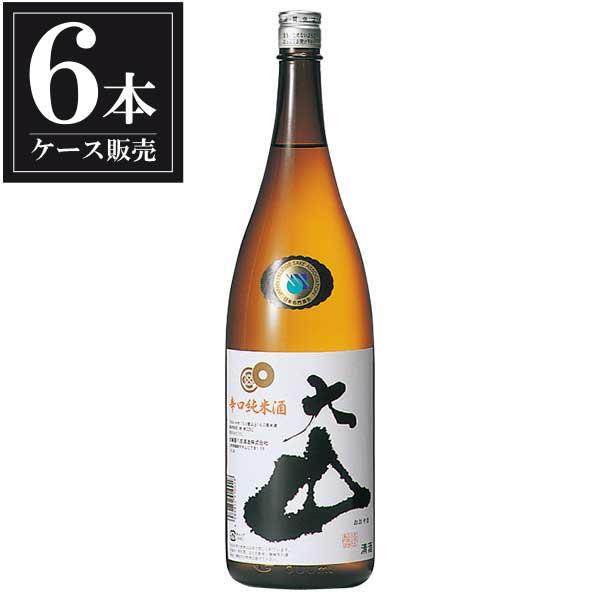 大山 辛口 純米酒 1.8L 1800ml x 6本 [ケース販売] [加藤嘉八郎酒造/山形県 ]