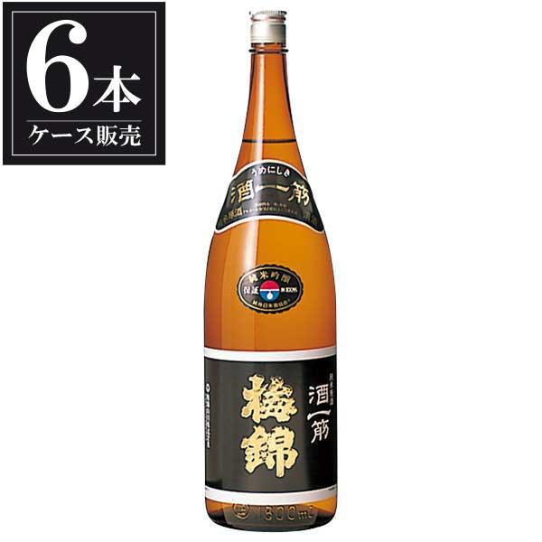 梅錦 純米吟醸原酒 酒一筋 1.8L 1800ml x 6本 [ケース販売] [梅錦山川/愛媛県 ]
