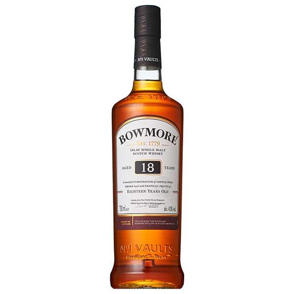 【送料無料】ボウモア 18年 43度 [瓶] 700ml x 6本[ケース販売] 送料無料※(本州のみ)[ウイスキー/43度/イギリス/サントリー]