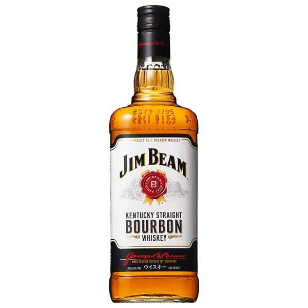 ジム ビーム 40度 [瓶] 1L 1000ml x 12本[ケース販売][ウイスキー/40度/アメリカ/サントリー]【ホワイトデー】