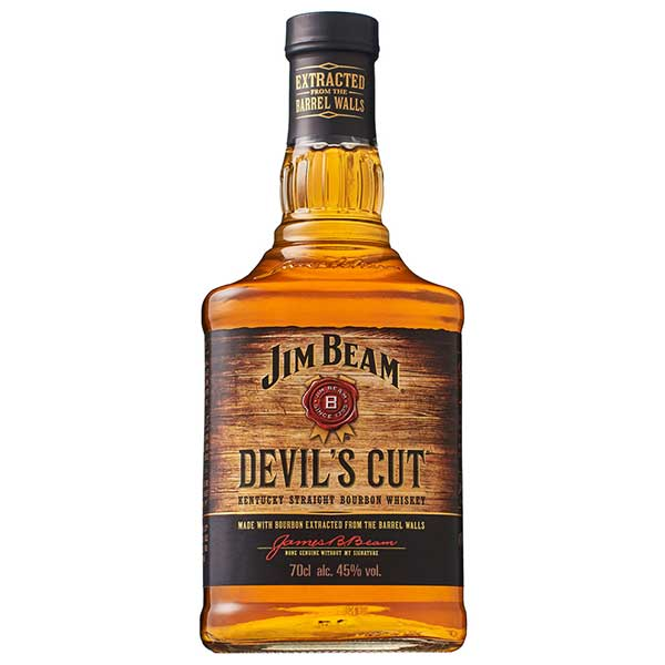 【送料無料】ジム ビーム デビルズカット 45度 [瓶] 700ml x 6本[ケース販売] 送料無料※(本州のみ)[ウイスキー/43度/アメリカ/サントリー]