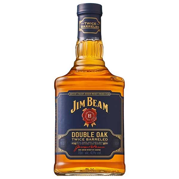 【送料無料】ジム ビーム ダブルオーク 43度 [瓶] 700ml x 6本[ケース販売] 送料無料※(本州のみ)[ウイスキー/43度/アメリカ/サントリー]【ホワイトデー】