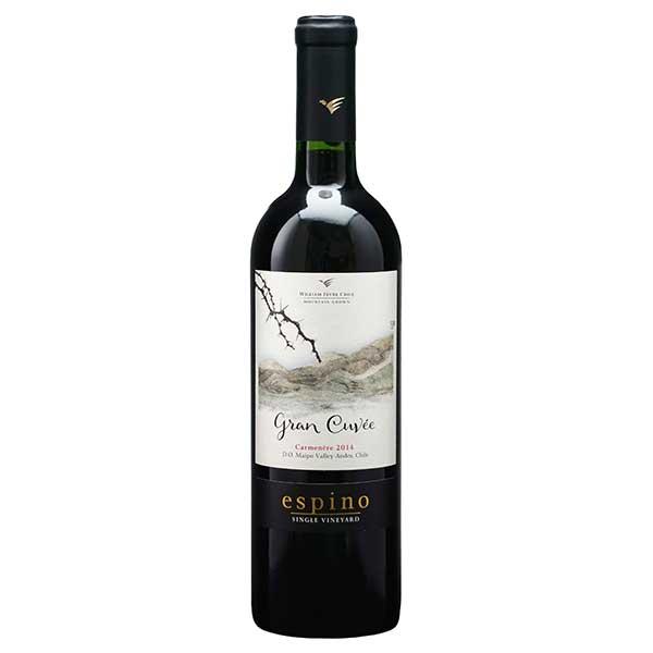 赤ワイン wine 母の日 父の日 御中元 御歳暮 内祝い ビーニャ ウィリアム フェーヴル 稲葉 チリ 750ml チリエスピノ グラン カルムネール マイポ W077 キュヴェ ヴァレー 即日出荷 未使用品