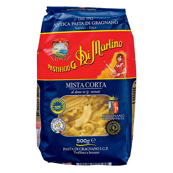 パスタ Pasta ディ マルティーノ ミスタ コルタ No.184 引き出物 袋 500g イタリア 国産品 037104 送料無料 ケース販売 12袋 本州のみ x モンテ
