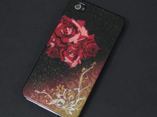 iPhone 4s / IPHONE4 エアーブラシ ケース 第一節魅惑 (赤バラアラベスク ゴージャス)作品と呼べる一品。デザイン系のカバーの最高峰の一角を担うエアーブラシで作成された技物。【デザイン・柄が豊富なスマホケース(case)専門店】【smtb-KD】【P06Dec14】