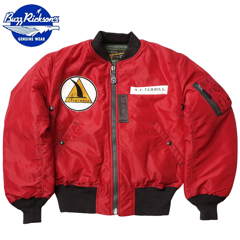 15%OFF■BUZZ RICKSON'S #BR13905 RED MA-1 フライトジャケット『NORTHROP PATCH』 バズリクソンズ 返品・交換不可【TKA】