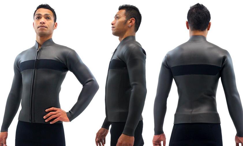 ロングタッパー フロントジップメンズ クラシック素材 エアーカラット選べるカラー ポイントカラー 1色無料 生地 厚さ 2mm 3mm 男性用 サーフィン