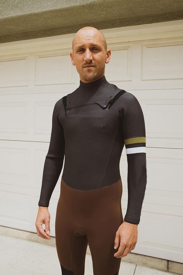 2019 セミドライ チェストジップ タイプ ウエットスーツ メンズ選べるカラー 生地 厚さ 3mm 5mm ウェットスーツ 男性用 サーフィン ポイントカラー 1色無料