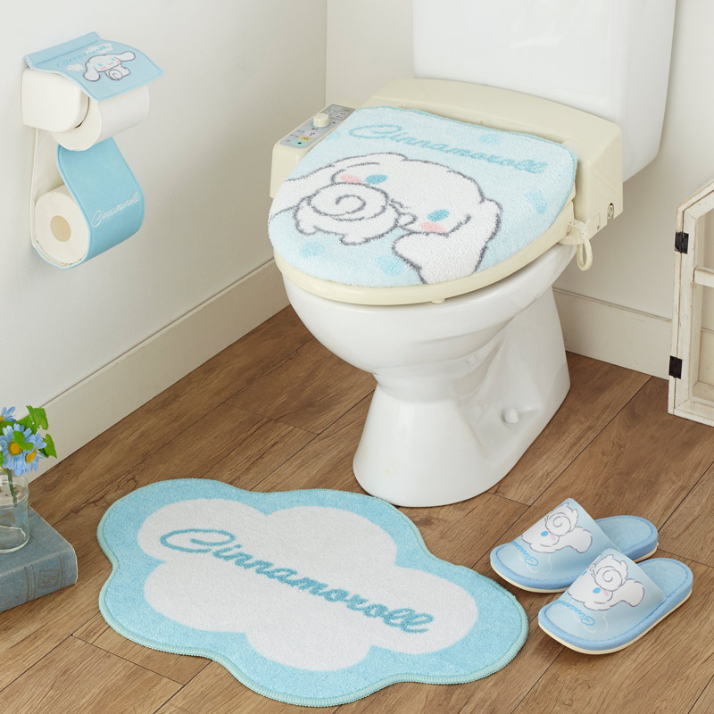Remarkable Cinnamoroll Cinnamon Toilet Lid Cover Toilet Mat Slippers Paper Holder Deluxe 4 Piece Set Except Hokkaido Okinawa And Remote Islands Andrewgaddart Wooden Chair Designs For Living Room Andrewgaddartcom