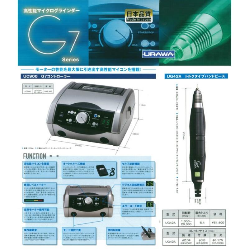 URAWA(ウラワ)マイクログラインダーG7(トルクセット)UC900+UG42A