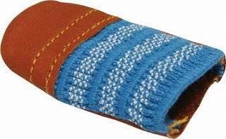 バフ研磨 集塵 並行輸入品 研磨補助具 春の新作続々 指サック 薄 皮製指サック 茶 太