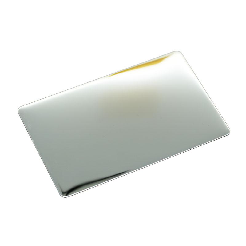 ステンレス板100枚(85×54×t0.6mm)片面鏡面