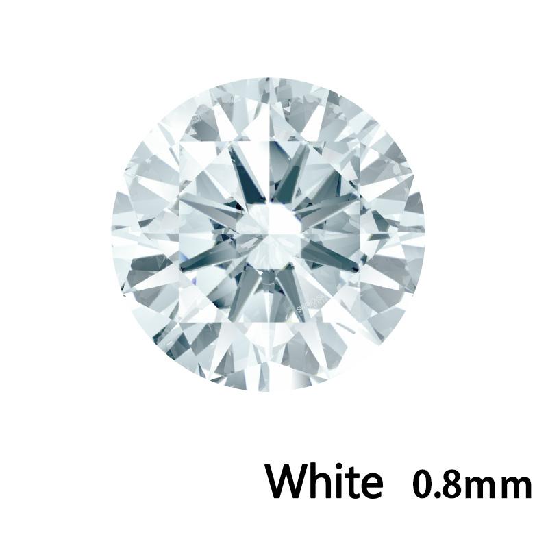 SWV(スワロフスキー)CZ RD ホワイト LE(刻印あり)0.8mm 1000pcs