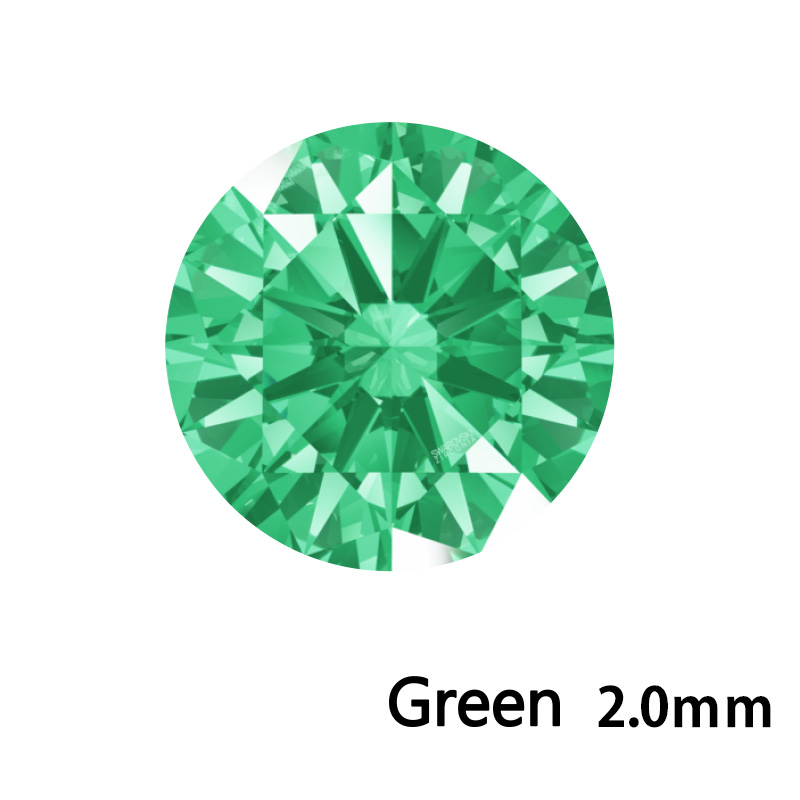 SWV(スワロフスキー)CZ RD グリーン LE(刻印あり)2.0mm 500pcs