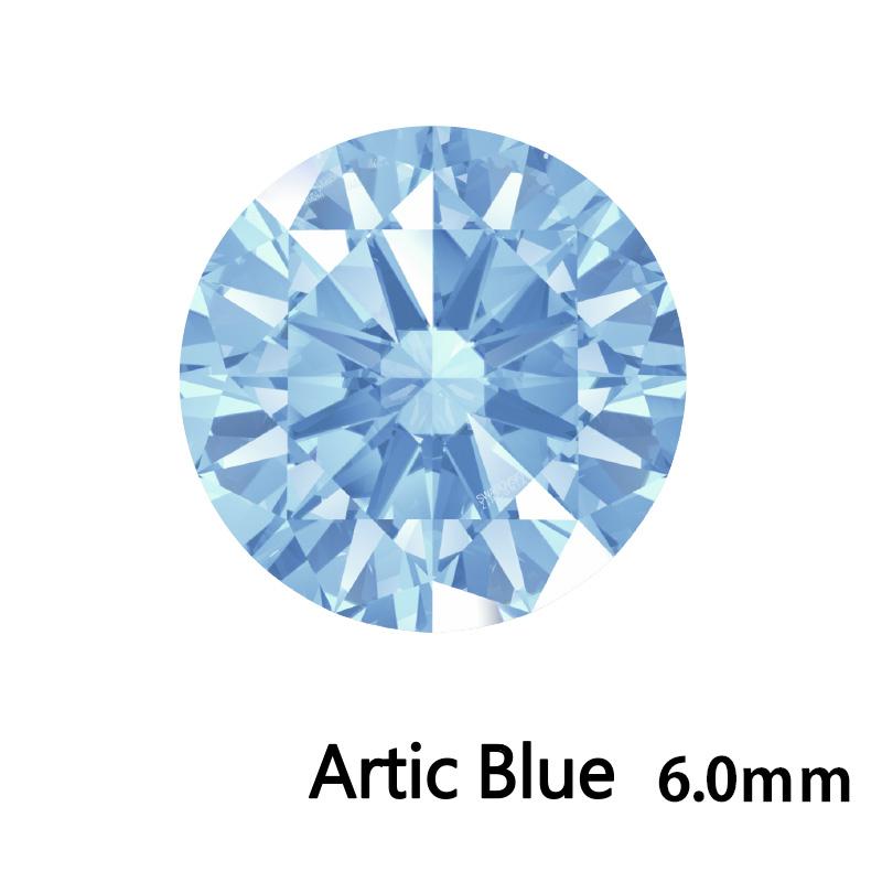 SWV(スワロフスキー)CZ RD Arc.ブルー LE(刻印あり)6.0mm 60pcs