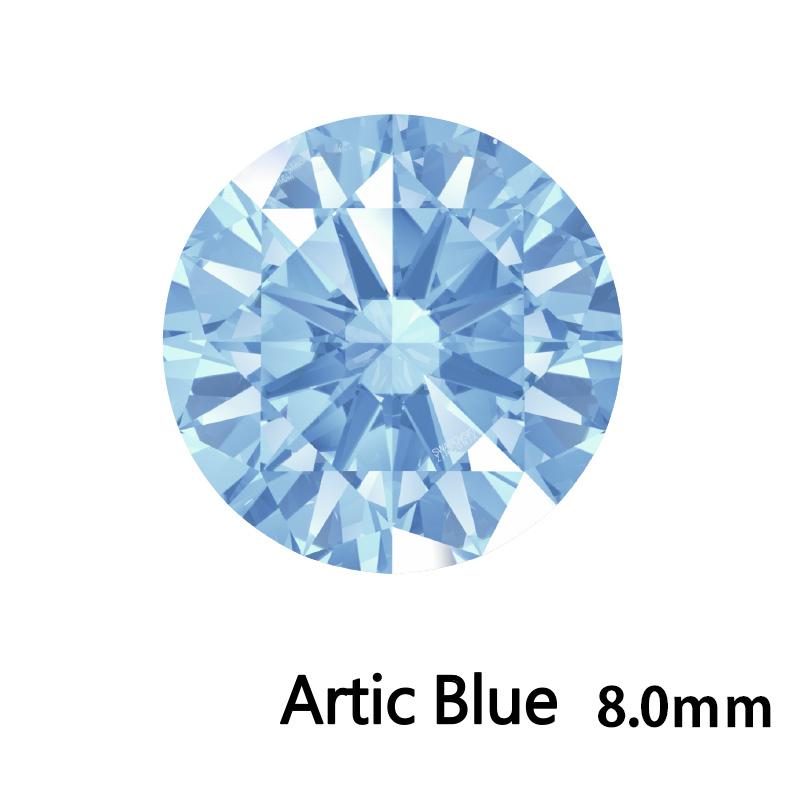 SWV(スワロフスキー)CZ RD Arc.ブルー LE(刻印あり)8.0mm 35pcs