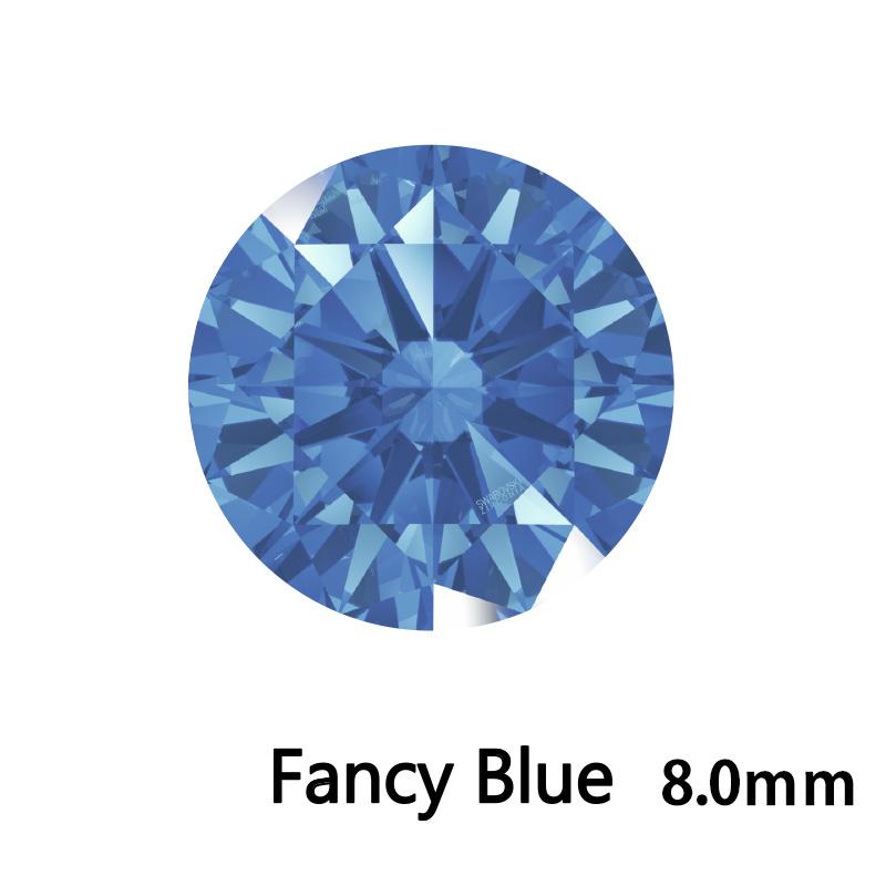 SWV(スワロフスキー)CZ RD F.ブルー LE(刻印あり)8.0mm 35pcs