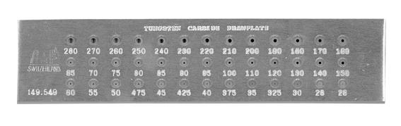 超硬線引盤 丸39穴 No.149-549[0.26-2.8mm]