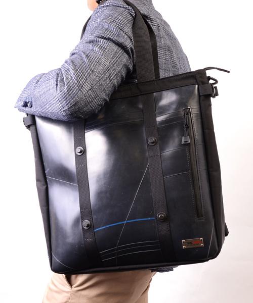 【先着イベント開催中!】 トートバッグ メンズ UNITEDシリーズ SEAL シール トートバッグ A4 大きめ 防水 廃タイヤ タイヤチューブ 人気 日本製 黒 プレゼント