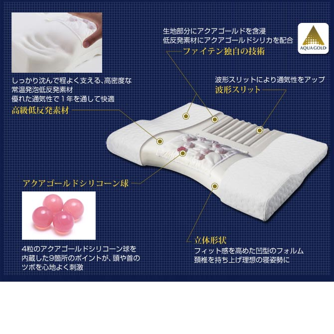 phiten ( phiten ) stars comfort therapist Shiatsu pillow standard 70yo525000