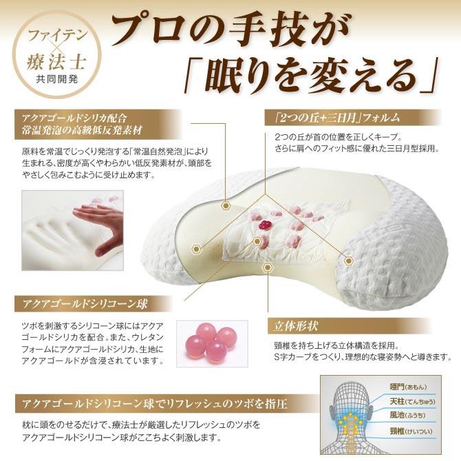phiten ( phiten ) stars comfort therapist Shiatsu pillow hills sleep Aqua yo536000