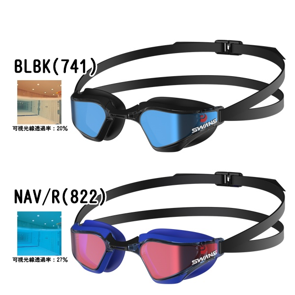 32826e6f434 Sealass  SWANS (swans) mirror racing swimming goggles VALKYRIE SR ...