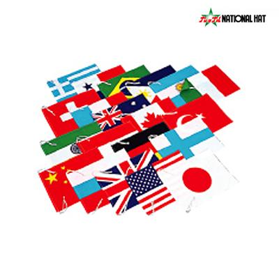 NATIONAL HAT(ナショナルハット)万国旗・布(中:43×34cm・20ケ国セット・紐無し)運動会用品 N-929