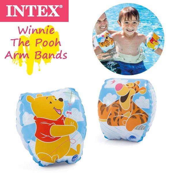 INTEXのスイムアクセサリー INTEX インテックス Disney プーさん アームバンド 2020新作 超激安 子供 幼児 浮き輪 56663 アームフロート パケット便送料無料