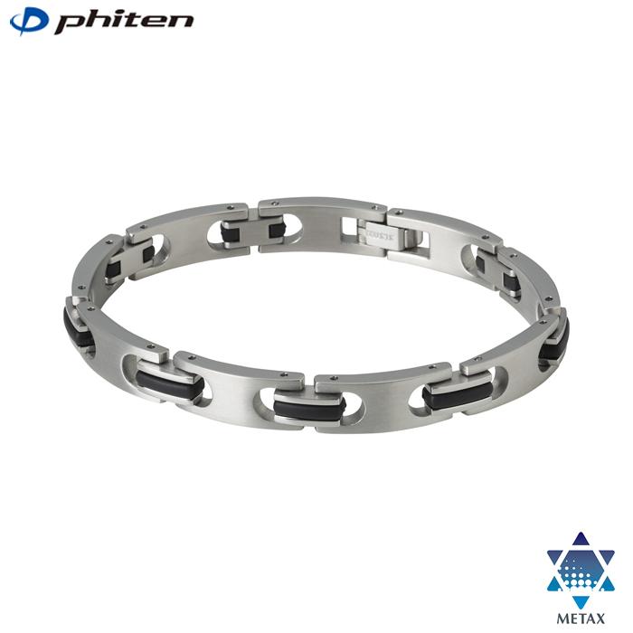 服装を問わず合わせやすいシンプルなデザイン☆ phiten 新商品 ファイテン 安心と信頼 ハードコートチタンブレス メタックス スリム JX923
