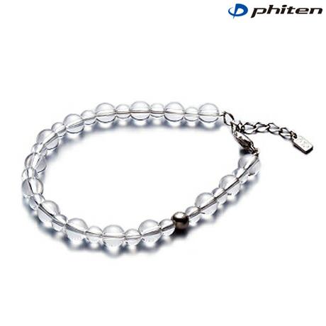 phiten(ファイテン)水晶コンビブレス +3cmアジャスター 5mm・7mm玉/19cm【日本製】aq807027
