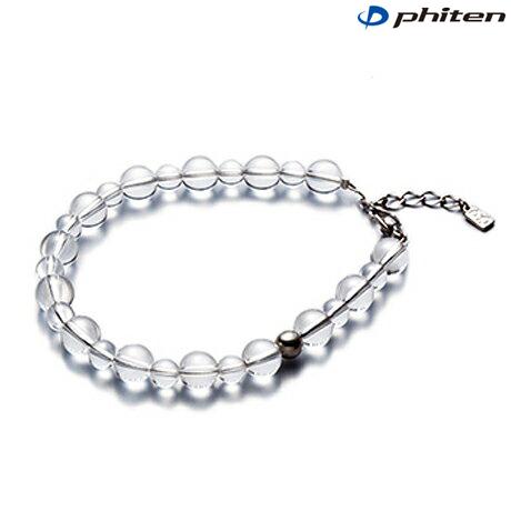 phiten(ファイテン)水晶コンビブレス +3cmアジャスター 6mm・8mm玉/17cm【日本製】aq809025
