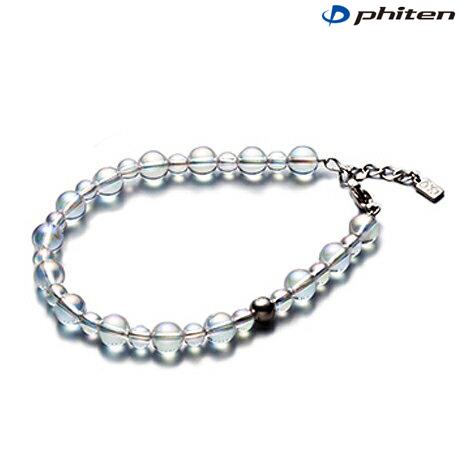 phiten(ファイテン)チタン水晶コンビブレス +3cmアジャスター 5mm・7mm玉/19cm【日本製】aq813027