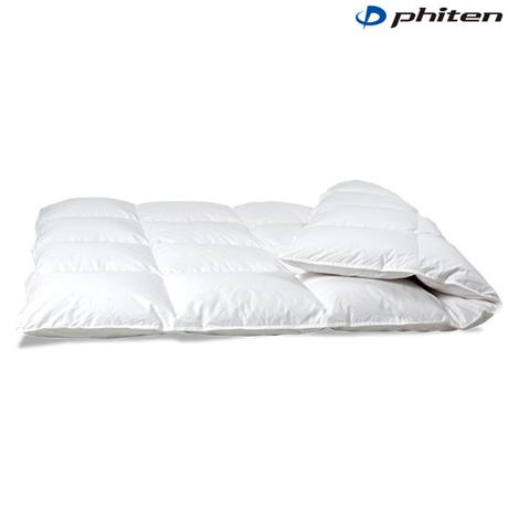 phiten(ファイテン)星のやすらぎ 金の羽毛ふとん 上質ダウン【100型】シングル【日本製】