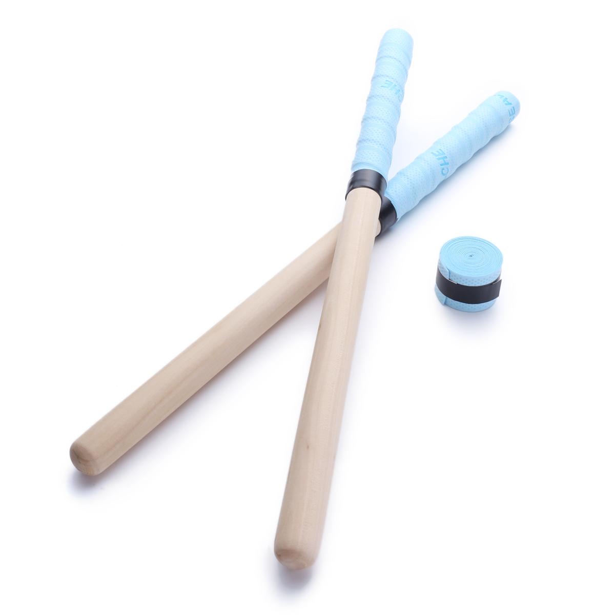 太鼓の達人であるランカーと共同開発した反応性抜群のぽんぽこバチ(精度ばち) ★反応性抜群のぽんぽこバチ(精度ばち)★[sealche] 太鼓 達人 マイバチ φ20mm-370mm 80グラム/本 グリップテープ1個付 ブルー