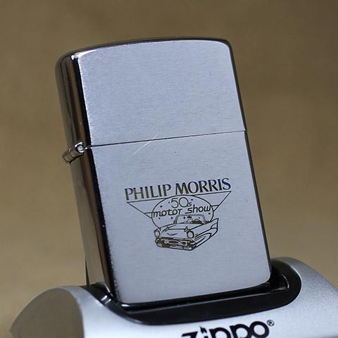 1988年製ビンテージZippo(ジッポーライター) PHLIP motor MORRIS MORRIS 50's motor show show, さかもと布団店:cde1cf30 --- harrow-unison.org.uk